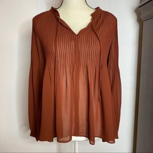 Ann Taylor Rust Colored Blouse